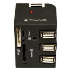 Talius hub 3 puertos USB 2.0+ lector TAL-EU-148 black (Espera 5 dias)