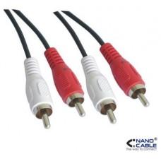 Nanocable - Cable de audio estereo RCA de 1,8m