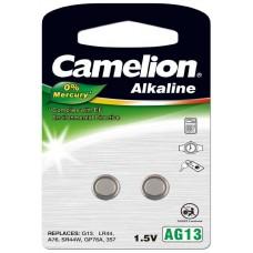 Pila Botón Alcalina LR44 1.5V 0% Mercurio (2 pcs) Camelion (Espera 2 dias)