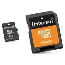 Intenso 3413460 Micro SD clase 10 8GB c/adapt