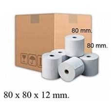 Rollo Papel Térmico 80X80X12 MM Pack 6 Uds sin BPA