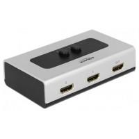 DELOCK Switch HDMI de 2 puertos manual