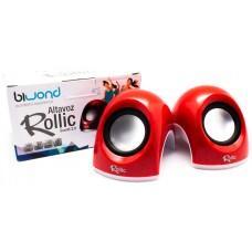 Altavoz Rollic Sound 2.0 Rojo Biwond