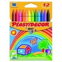 CERA PLASTICA BIC PLASTIDECOR 12UDS