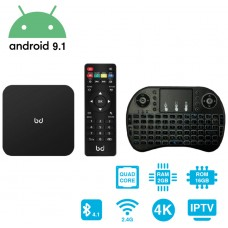 SmartTV Android 9.1 HDR 4K + Teclado Inalámbrico 2GB RAM 16GB ROM HomeBox Biwond (Espera 2 dias)