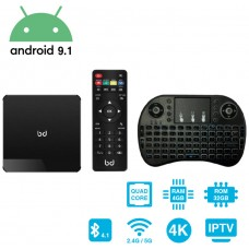 SmartTV Android 9.1 HDR 4K + Teclado Inalámbrico 4GB RAM 32GB ROM HomeBox Pro Biwond (Espera 2 dias)