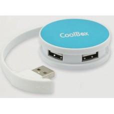 HUB USB 4 PUERTOS COOLBOX USB 2.0 AZUL