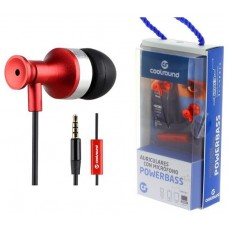 Auricular + Micrófono Powerbass COOLSOUND   Rojo (Espera 2 dias)