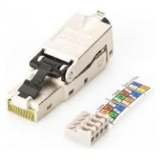 CONECTOR DIGITUS RJ45 APANTALLADO POE ENSAMBLAJE TERRENO AWG 22-27 10GB