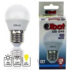 Bombilla LED G45 6W 480LM E27 Luz Cálida ELBAT (Espera 2 dias)