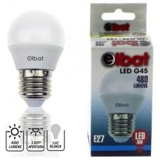 Bombilla LED G45 6W 480LM E27 Luz Blanca ELBAT (Espera 2 dias)