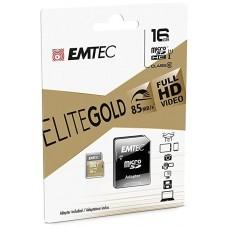 MEMORIA SD MICRO 16GB EMTEC ELITE GOLD 85MB/S SD +