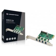 TARJETA PCIEXPRESS CONCEPTRONIC 4 PUERTOS USB 3.0 (Espera 4 dias)