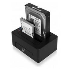 BASE CONECTORA DUO HDD EWENT EW7015 SATA / USB 3.0 (Espera 4 dias)