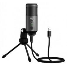 iggual Micrófono condensador Podcasting Pro gris