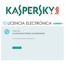 ANTIVIRUS ESD KASPERSKY 3 USUARIOS LIC ELECTR