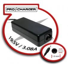 Carg. Ultrabook 19.5V/3.08A 3.0mm x 1.0mm 60w Pro Charger (Espera 2 dias)