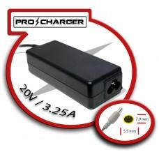 Carg. Ultrabook 20V/3.25A 7.9mm x 5.5mm 65w Pro Charger (Espera 2 dias)