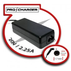 Carg. 20V/2.25A 4.0mm x 1.7mm 45W Pro Charger