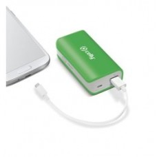 CELLY POWER BANK 4000 MAH VERDE MICRO USB (Espera 3 dias)