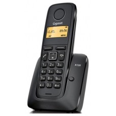 TELEFONO FIJO GIGASET A120 INALAMBRICO NEGRO