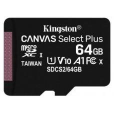 Kingston Technology Canvas Select Plus memoria flash 64 GB MicroSDXC Clase 10 UHS-I (Espera 4 dias)