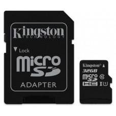 MEMORIA MICRO SD 32GB KINGSTON CLASE 10 UHS-I 80R