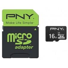 PNY - Tarjeta MicroSD 16GB + Adaptador - Clase 10 -