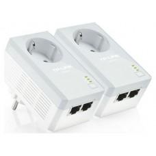 KIT INICIAL DE ADAPTADORES POWERLINES TP-LINK CON ENCHUFE INCORPORADO 500 Mbps AV600 (Espera 2 dias)