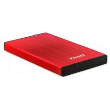 CAJA EXTERNA 2.5 TOOQ 95 MM SATA USB 3.0/3.1 GEN1 ROJA