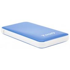 "CAJA EXTERNA 2.5"" SATA TOOQ AZUL USB 3.1 9.5mm"