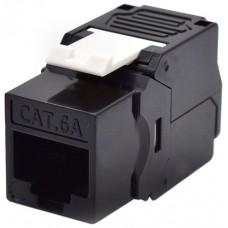 WP Keystone Cat. 6a UTP RJ45/Hembra  Negro