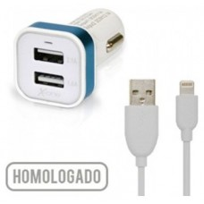 X-One Cargador Coche USB 2.1A + Cable Lightning